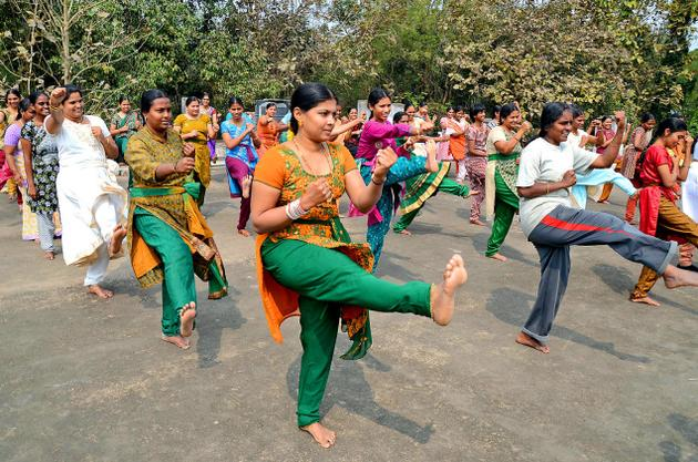 Indian Womend karate